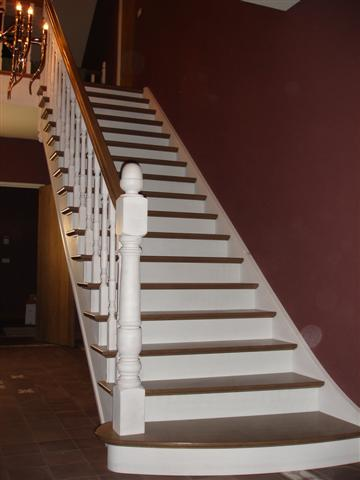 Cp trappen cottage trappen for Trap hout wit