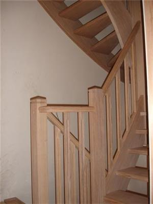Trapbalustrade in Franse eik